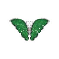 1627. 天然翡翠配鑽石「蝴蝶 」別針 / 吊墜