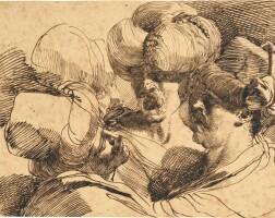 336. mauro gandolfi   a sheet of head studies of orientals