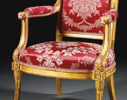 54. a suite of carved giltwood seat furnitureby georges jacob late louis xvi, circa 1789-90