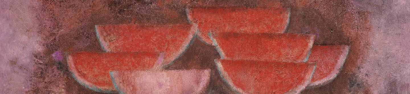 A Rufino Tamayo Watermelon painting in an auction selling Latin American Art