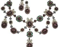 21. gem set and enamel demi-parure, late 19th century