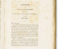 11. speeches on the jew bill in the house of delegates in maryland, by h.m. brackenridge, col. w.g.d. worthington, … philadelphia: j. dobson, 1829