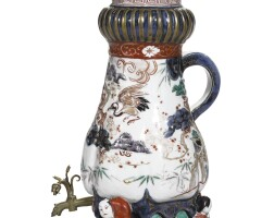 25. a japanese imari coffee pot and cover, edo period, late 17th/early 18th century