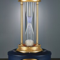 2501. de beers | a fine gold-plated hourglass with floating diamondscirca 2000