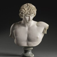 24. french, late 18th/ early 19th centuryafter the antique   bust of antinous