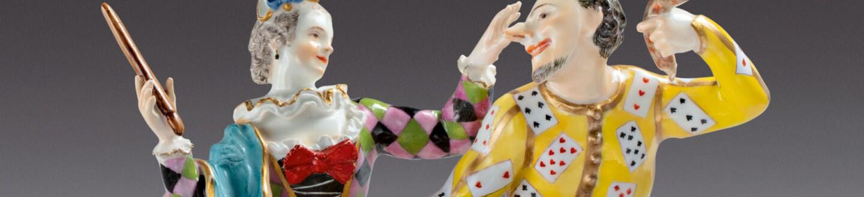 A rare Meissen figure in an auction selling European Ceramics