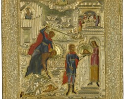 553. a silver-gilt icon of the beheading of saint john the baptist, moscow, 1839 |