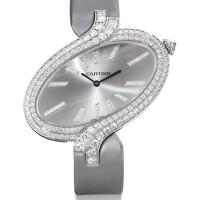 2032. cartier   white gold and diamond-set wristwatchref 3445 case 860455qx délices de cartier xl circa 2012