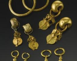 45. a group of korean gold jewelry three kingdoms, silla kingdom period, 5th-6th century
