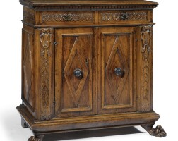 1. an italian carved walnut credenza early 17th century and later