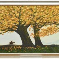742. liu haiming two oil paintings