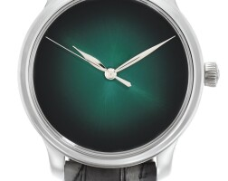 138. h. moser & cie   endeavour centre seconds concept cosmic green, reference 1343-0211a white gold wristwatch, circa 2017
