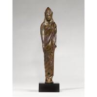12. an etruscan bronze figure of a kore, circa 525-500 b.c.