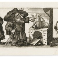 3. caricatures. westerhout. raccolta di diverse caricature. rome, 1765. en feuilles, très rare suite complète