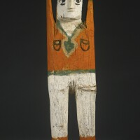 8. navajo painted wood figure by charlie willeto (1897-1964), four corners area