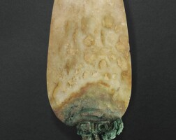 38. rare pointe de lance en jade dynastie shang, ca. 1200 avantj.-c.