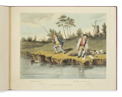 38. frankland, robert, sir. 'delights of fishing'. london: thomas mclean, 1823 [final plate watermarked 1827]
