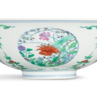3618. a fine famille-rose and doucai bowl mark and period of yongzheng |