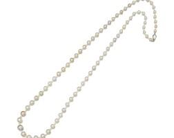 9105. 天然海水珍珠配鑽石項鏈