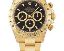 208. 勞力士(rolex) | 16528型號「'zenith' daytona」黃金計時鍊帶腕錶備倒轉「 6」字小錶盤,年份約1991。