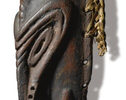 216. ramu river mask from a sacred flute, lower sepik region, papua new guinea