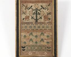 6. george iii sampler, dated 1774,