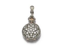 8. diamond set fob watch, late 19th century