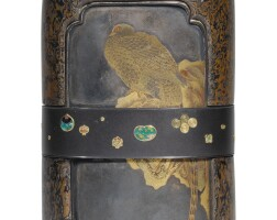 170. a cloisonné and lacquered bronze vase meiji period, late 19th century |