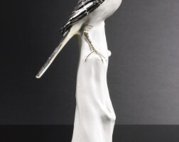 8. a rare meissen figure of a pied wagtail circa 1733