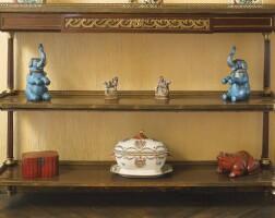 11. a louis xvi style ormolu-mounted mahogany console desserte circa 1900