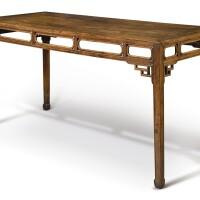 157. 清十八世紀 黃花梨馬蹄足大畫桌