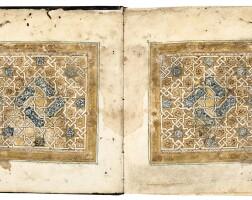 4. an illuminated qur'an juz' (x) in maghribi script on vellum, north africa or spain, 13th/14th century |