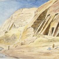 431. edward lear | abu simbel, upper egypt