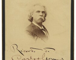 183. four autograph letters signed, with two identical cabinet photographs signed and inscribed in italian