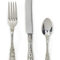 43. an american silver old baronial pattern flatware set, gorham mfg. co., providence, ri, early 20th century  
