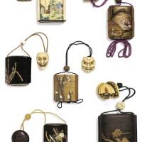 138. ensemble de 6 inro japon et chine, xviie-xixe siècle