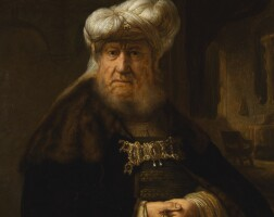 17. studio of rembrandt,circa 1640 | king uzziah