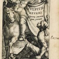 129. sulpice sévère. opera omnia. 1643. leyde, elzevier, 1643. reliure postérieure. exemplaire de jean racine.