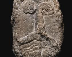 1. a celtic limestone head of a man, circa 1st century a.d.
