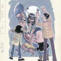 11. fresco of zhong kui (1983)
