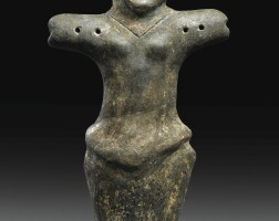 9. a large fragmentary vinca terracotta figure of a woman, neolithic period, vinča-pločnik-phase, circa 5000-4500 b.c.