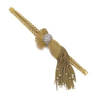 1. 黃金鑲鑽石手鏈