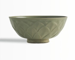 7. a carved 'yaozhou' celadon 'lotus' bowl northern song dynasty |