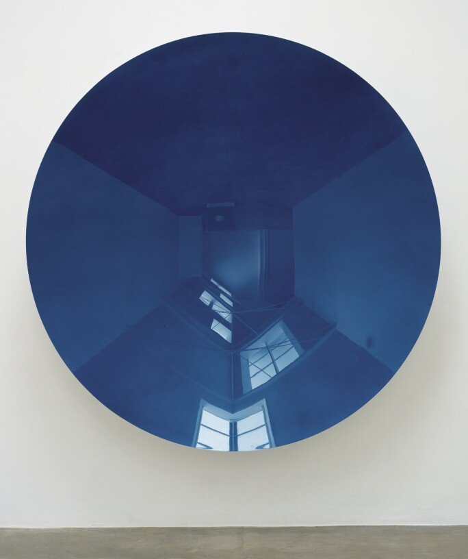 Anish Kapoor, Turning the World Upside Down (Blue), 2006.
