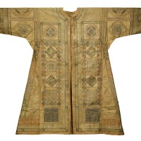 47. a large ottoman talismanic shirt (jama) with extracts from the qur'an and prayers, turkey, 16th/17th century and later  