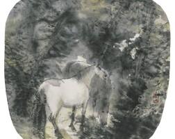 7. 彭先誠,《林中雙駿》 二〇〇二年作