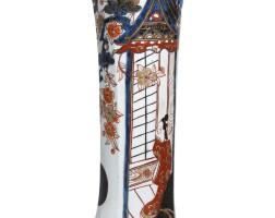24. a japanese imari beaker vase, edo period, 18th century