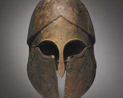 5. a greek bronze helmet, circalate 6th century b.c.