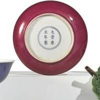 1041. a ruby-backed dish yongzheng mark and period |