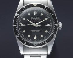 256. 勞力士(rolex) | 6541型號「milgauss」罕有精鋼自動上鏈抗磁鍊帶腕錶,年份約1958。